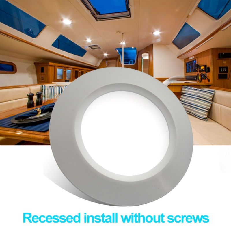 2 pcslot 68mm led encastr dans la lumire 12 v dc plafond lampe cheap camper trailer buy quality rv parts directly from china led lot suppliers led recessed down light dc ceiling lamp cool white aluminum white shell aloadofball Images