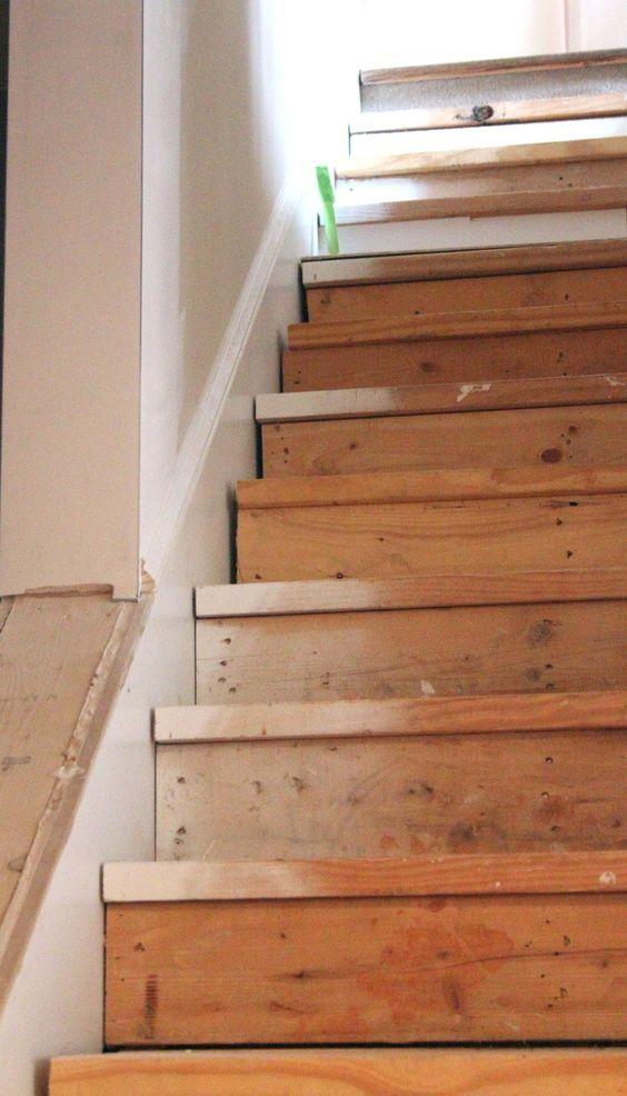 This Is The Best Idea For Updating Stairs On A Budget Totally   Best Wood For Basement Stairs   Stair Risers   Stair Treads   Handrail   Modern Stair Railing   Basement Renovations