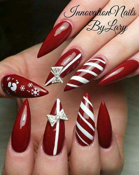 I Hate The Pointy Nails But I Love The Candy Cane Design