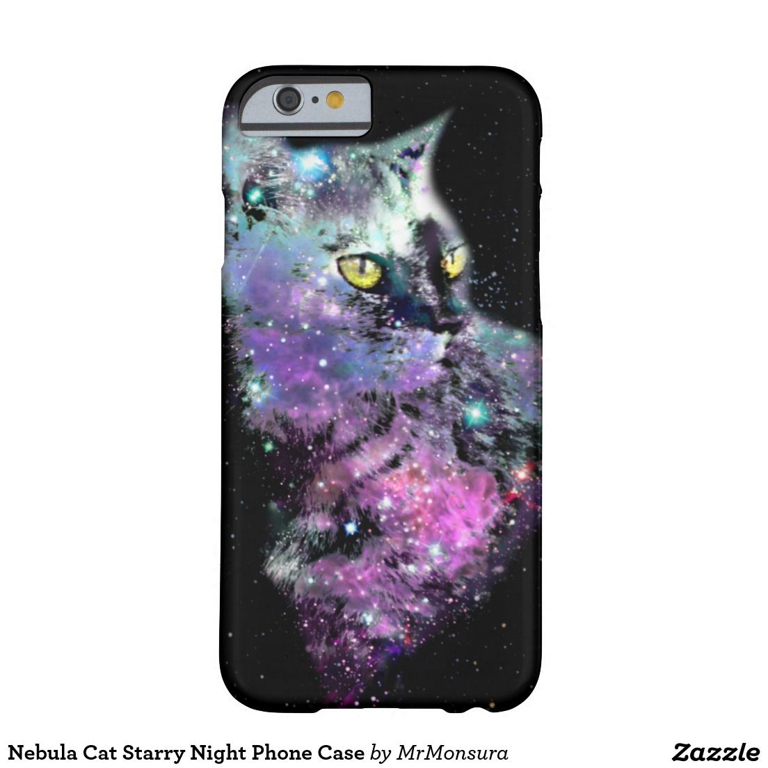 Nebula Cat Starry Night Phone Case Barely There iPhone 6 Case Galaxy Space Kitten Cool Stars Starry Supernova