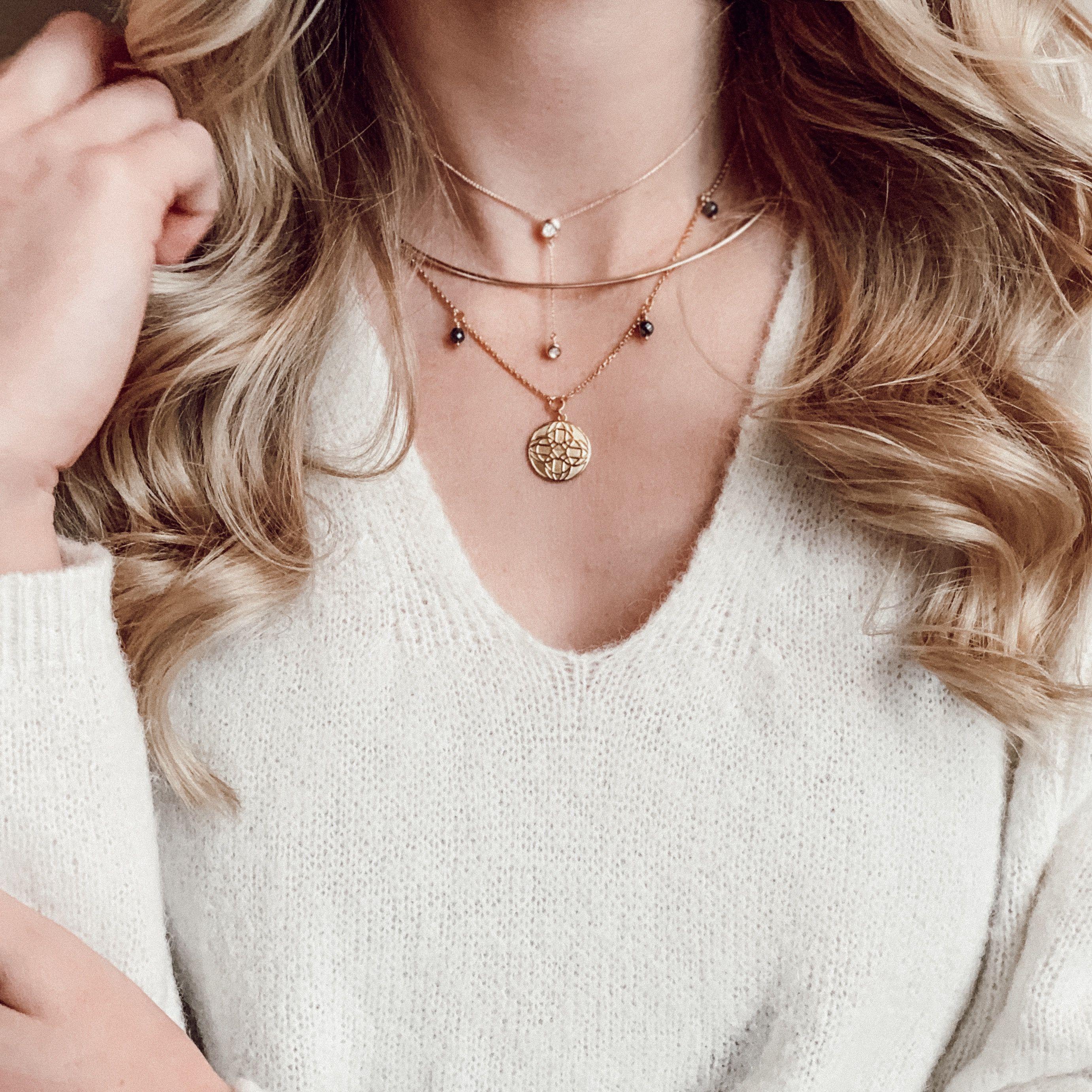 Lovares Halskette Perlenkette Damen 925 Sterling Silber Weiß Beige  45cm NEU TOP