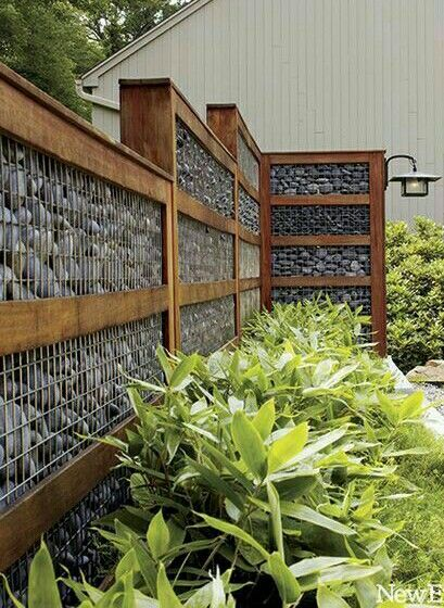 Rock wall fencing Arquitetura Pinterest Fences and Retaining walls