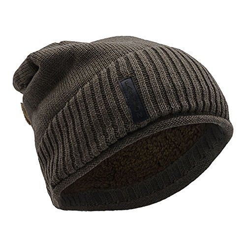 UPhitnis Unisex Winter Knitted Hats Warm Soft Loose Beanie Hat Chunky Knit  Hat Khaki One Size     Check out the image by visiting the link. 5b15d070b810