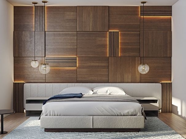 Give Your Bedrooms That Modern Look Bedroom Bed Design Wooden Wall Design Remodel Bedroom