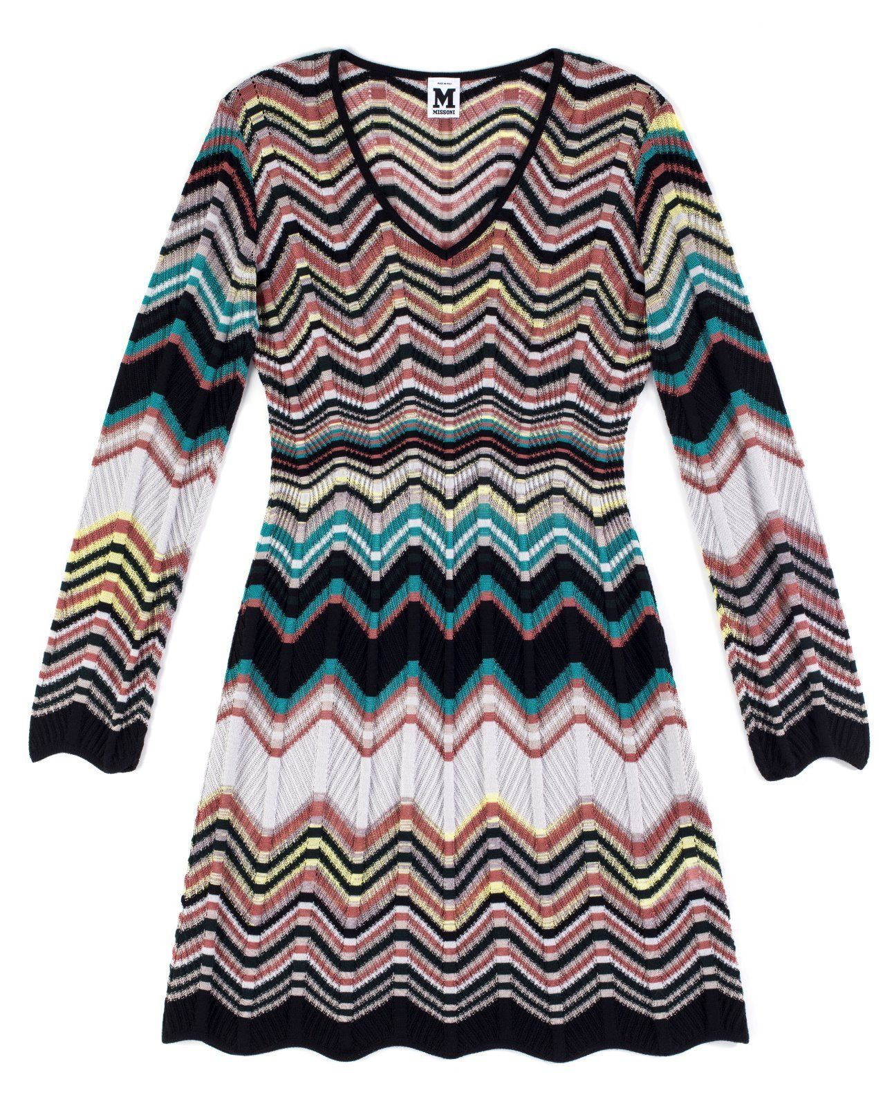 zig-zag knitted dress - Multicolour Missoni