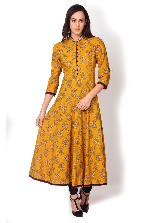 cbacac0f860 Yellow Embroidered Kurti - Kurtas   Kurtis - Ethnic - Lakshita ...