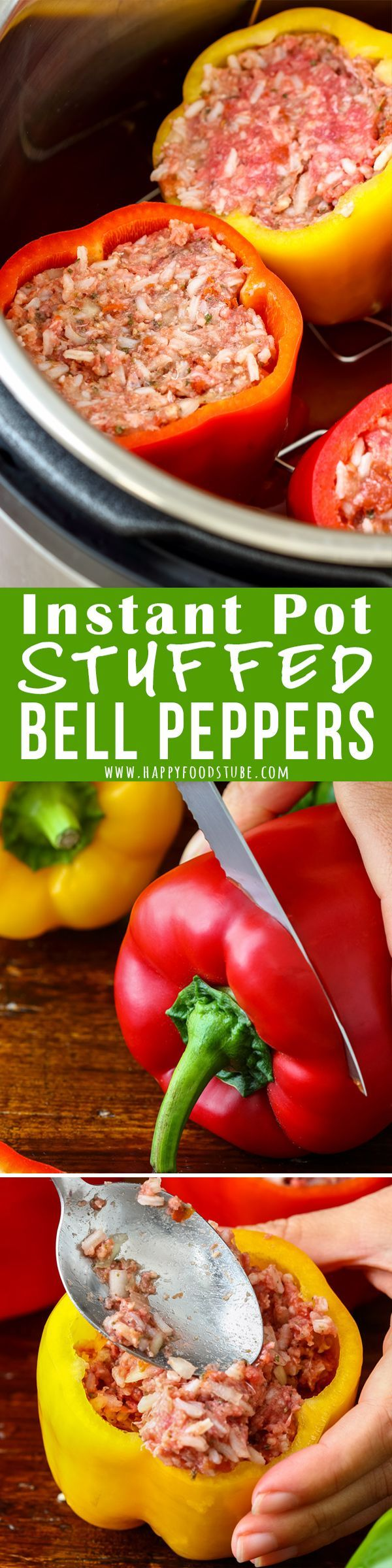 Instant Pot Stuffed Bell Peppers Pressure Cooker Stuffed Bell Peppers Recipe Instant Pot Dinner Recipes Easy Instant Pot Recipes Pressure Cooker Recipes