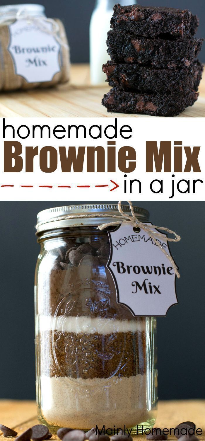 Homemade Brownie Mix in a jar Homemade Brownie Mix in a jar the perfect gift idea to make lasting m