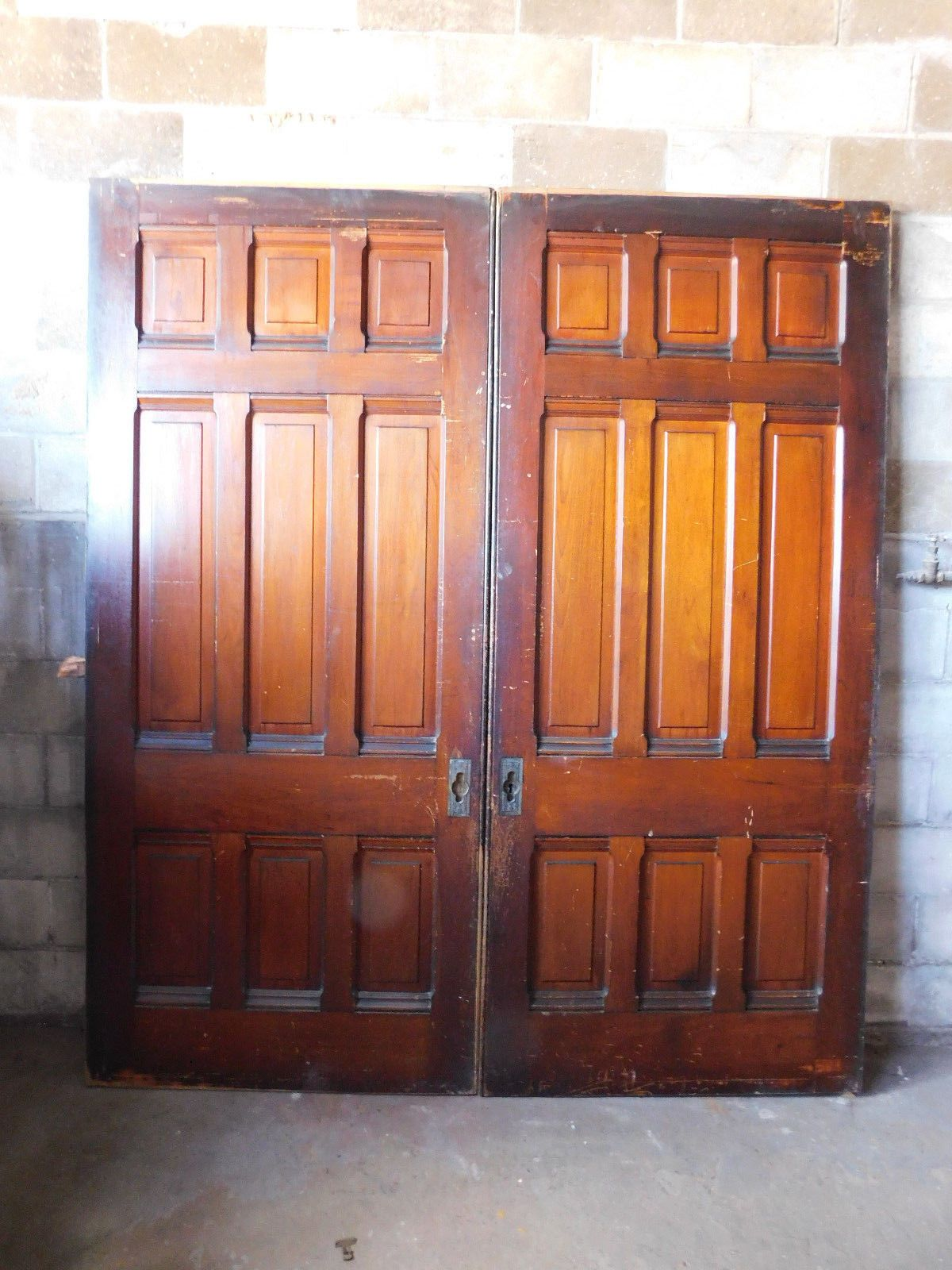 Antique Victorian Pocket Doors C 1890 Butternut Architectural