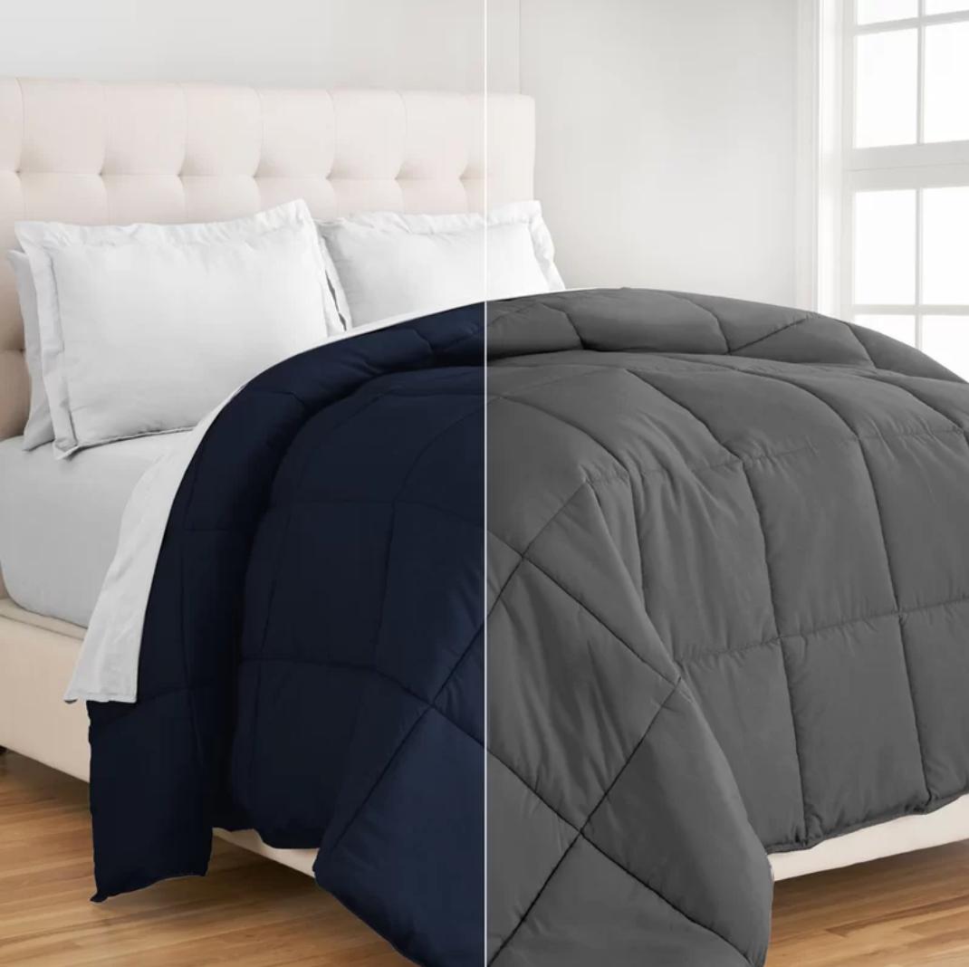 Geng Single Reversible Comforter Comforters, Home, Bed