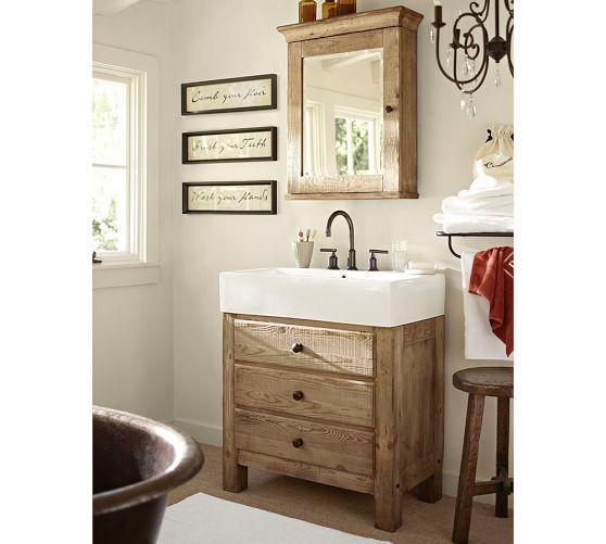 Mason Single Sink Vanity Wax Pine 31 5 Bathroom Wall