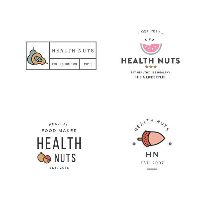 Logo Concepts for a Health Food Restaurant - Brand design, Logo design  www.atfirstblink.com