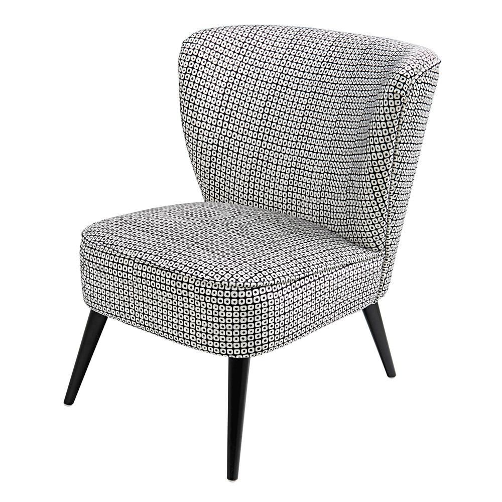 Seating Velvet Armchair Black White Chair Armchair