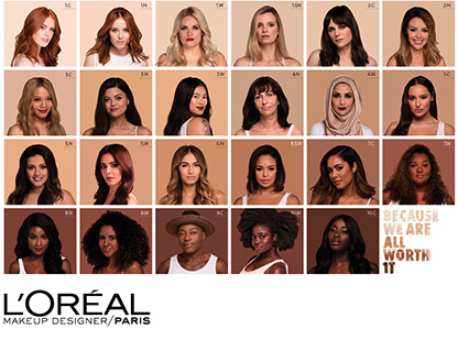 L'Oreal True Match Foundation with WOC shades beauty woc