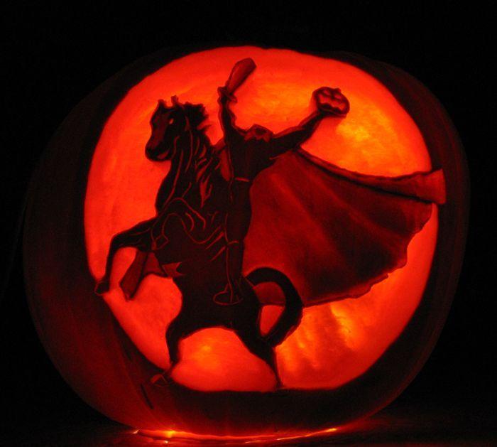 Sleepy Hollow Headless Horseman Pumpkin Carving