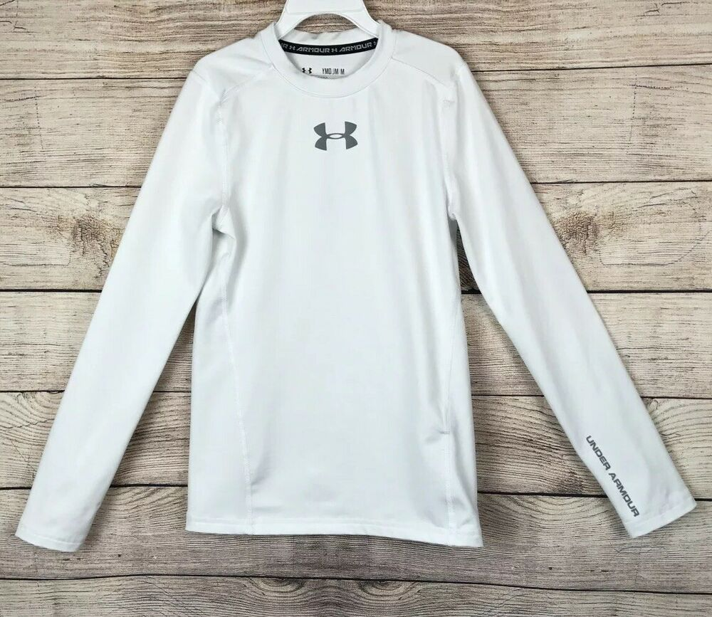 edc90a2e Details about Under Armour Youth Heat Gear Fitted Long Sleeve ...