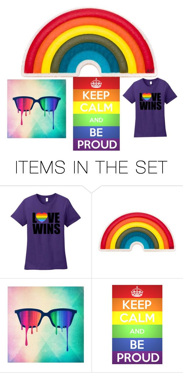 """""""Love is Love #PrayforOrlando"""" by emo-oreo-cookie ❤ liked on Polyvore featuring art"""