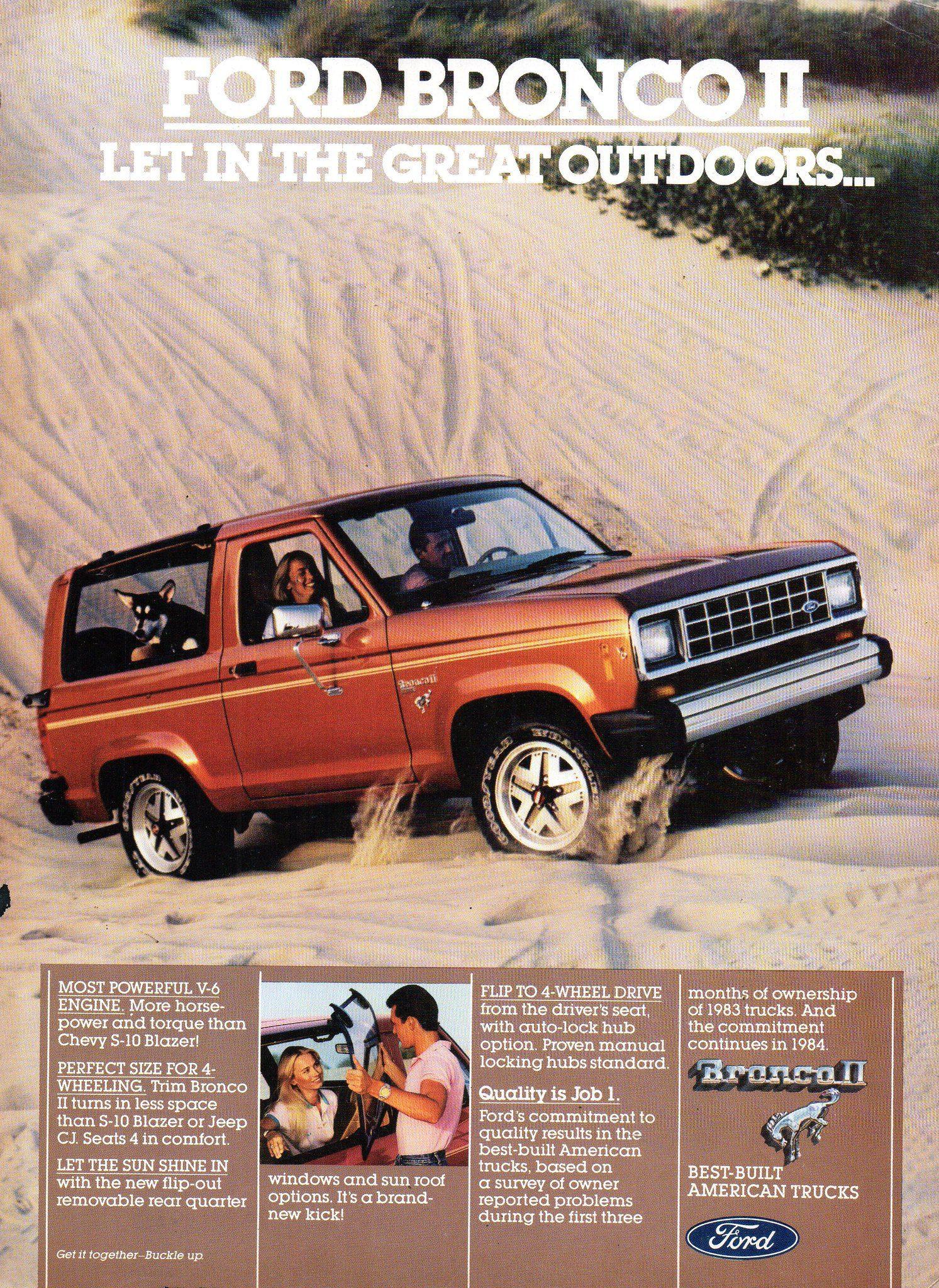 1986 FORD BRONCO /& BRONCO II Genuine Vintage Ad ~ FREE SHIPPING!