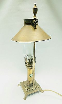 Vintage Miniature Brass Paris Orient Express Istanbul Table Lamp With Claw Feet Lamp Table Lamp Vintage Miniatures