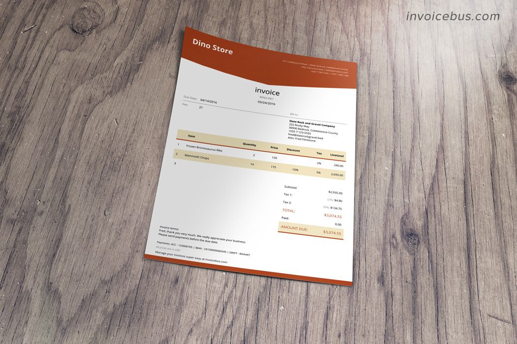 Html Invoice Template Lope Invoice Template Pinterest