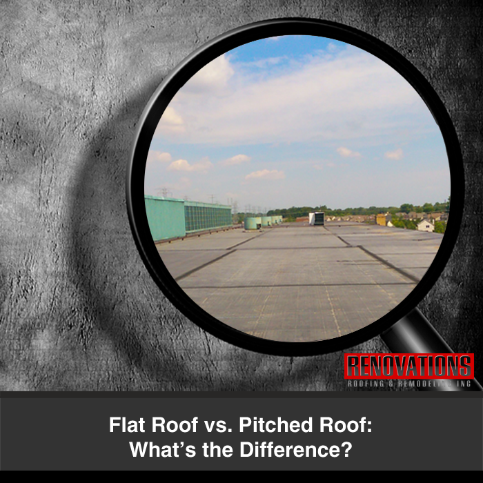 Flat Roof Vs Pitched Roof What S The Difference Flat Roof Pitched Roof Commercial Roofing