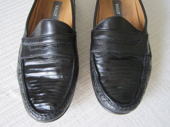 dcda81911c411 Mens Vintage Bally Topell Black Leather Loafer by SugarShackChic ...