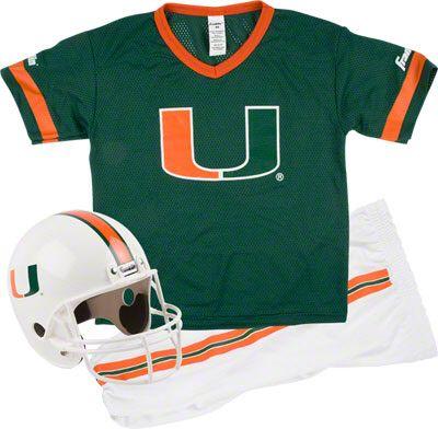 9f4ebfd33 Miami Hurricanes Kids Youth Football Helmet and Uniform Set  miami   hurricanes  TheU