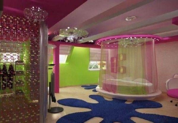 Teen Room Decoration Bed Canopy Blumenförmiger Carpet