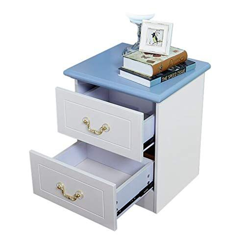 003ae1dd32 GY Bedside Table-Blue-White Bedside Table Simple European Style Fiberboard Bedside  Cabinet Bedroom Locker Fashion Furniture /+-+/