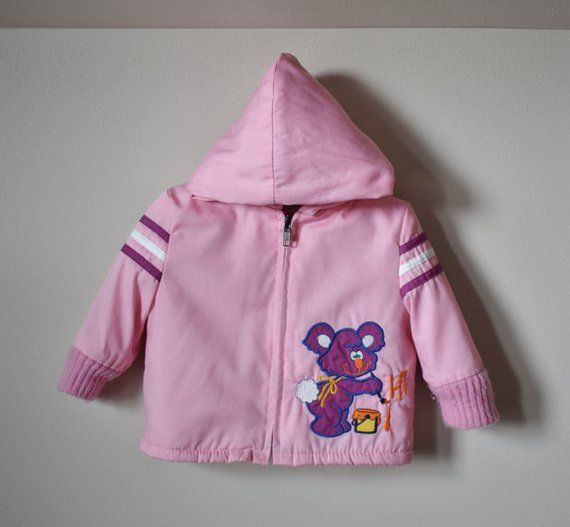 974c46039 Vintage Toddler Jacket 80s Pink Bunny Coat