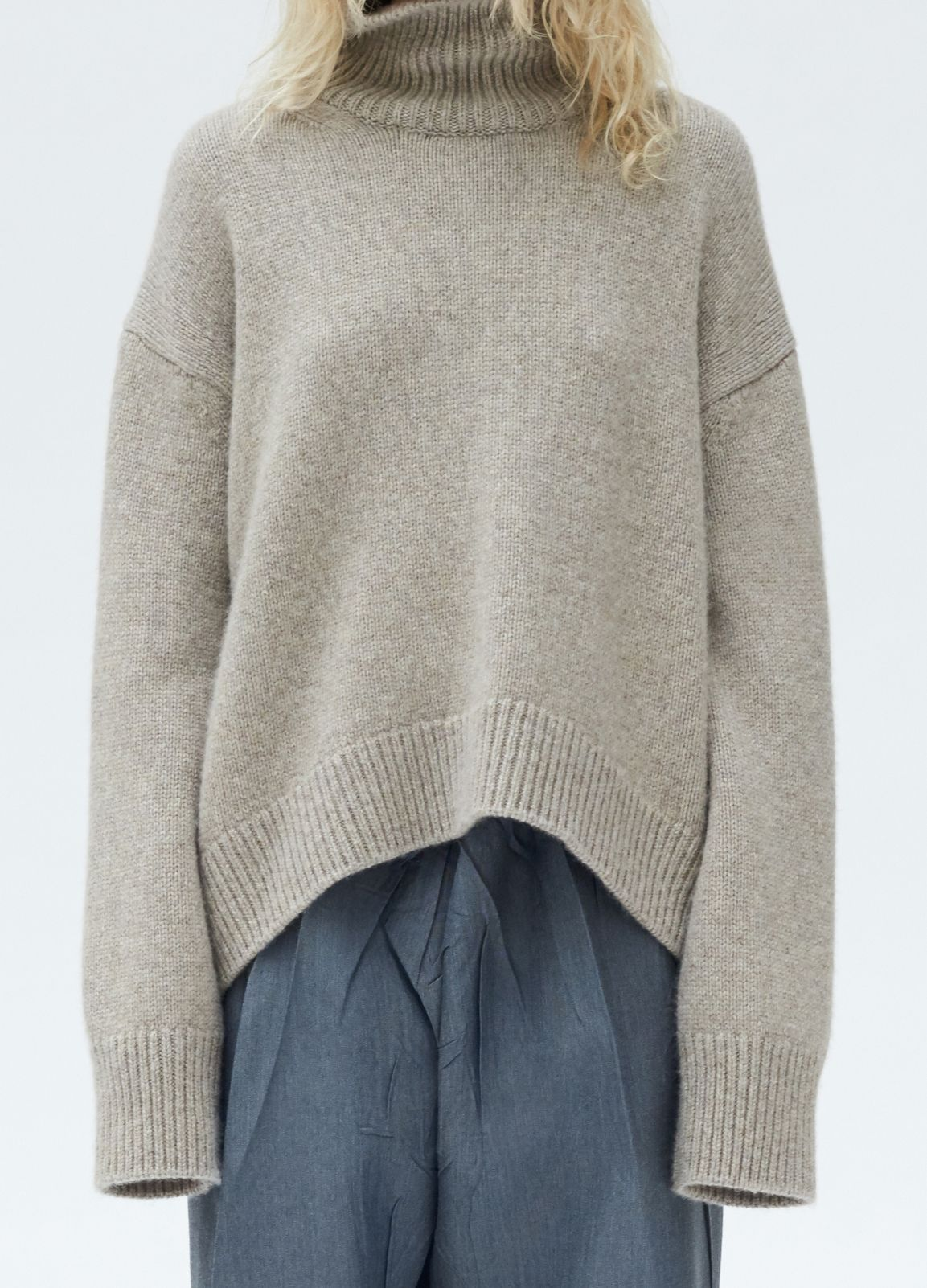 Asymmetrical Turtleneck Sweater in Lux Cashmere - Fall / Winter ...