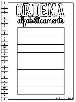 13 Ideas De Orden Alfabetico Orden Alfabetico Lectura Y Escritura Ejercicios De Español