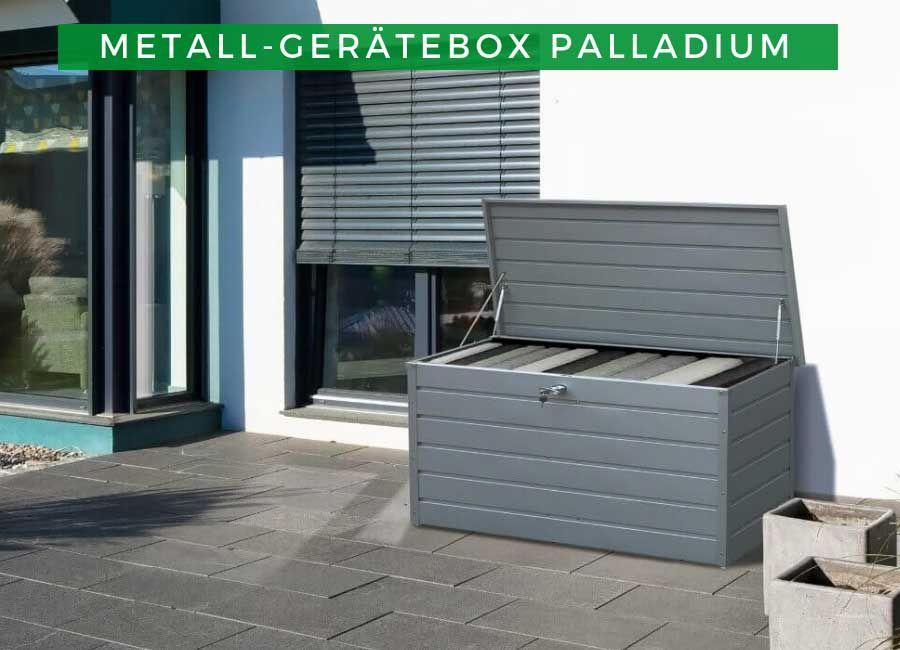 Geratebox Garten Metall Geratebox Palladium Box Aufbewahrungsbox Aufbewahrung Schrank