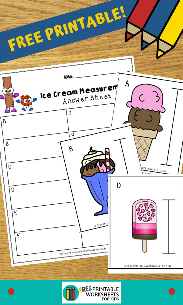 Ice Cream Measurement Cards Free Printable Worksheets For Kids Measurement Activities Preschool Kids Worksheets Printables Free Preschool Printables
