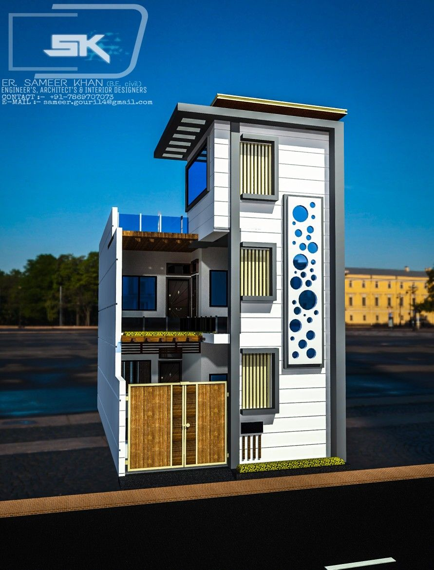 Small Indian House Design With Shop