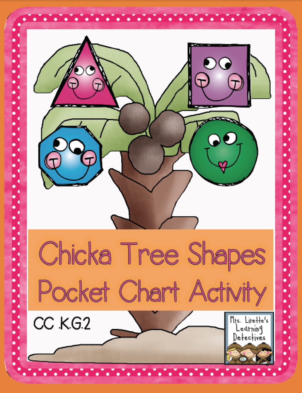 Chicka Tree Shapes Free Pocket Chart Activity With