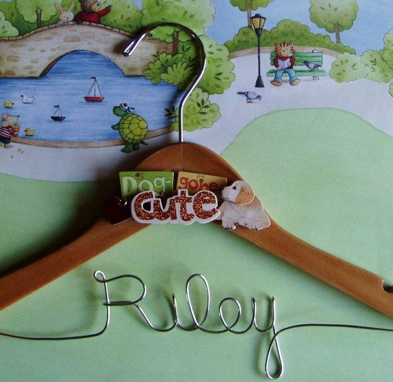 Personalized Dog Clothes Hanger to Hang there by HopeCustomJewelry, $11.95