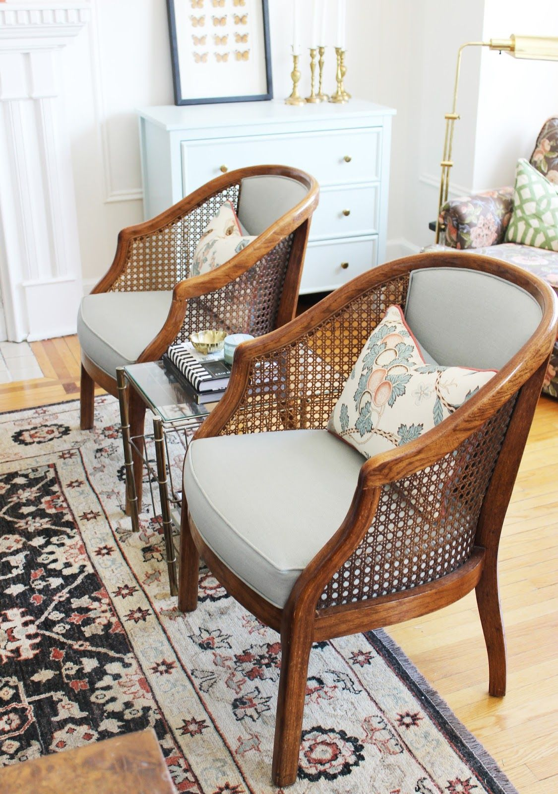 Cane chairs with cushions - Tiffany Leigh Interior Design Cane Chair Makeover Switch Studio