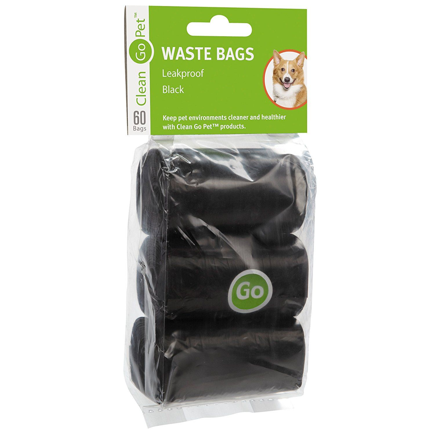 Clean Go Pet Replacement Dog Waste Bags 20 Count Rolls Durable Leakproof Plastic Black You Can Find Out More Details At The Link Of