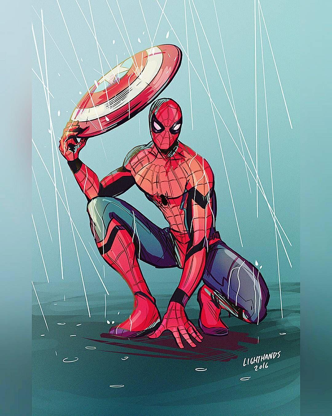 Art  Johnny Lighthands on Behance #Spiderman #Marvel by devilzsmile.com #devilzsmile