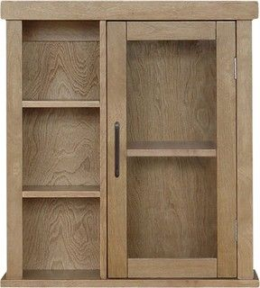 Elegant Home Origine Mahogany Bathroom Wall Cabinet 1 Door And Cubbies Modern Bathroom Storage By Wall Cabinet Bathroom Wall Cabinets Fun Bathroom Decor