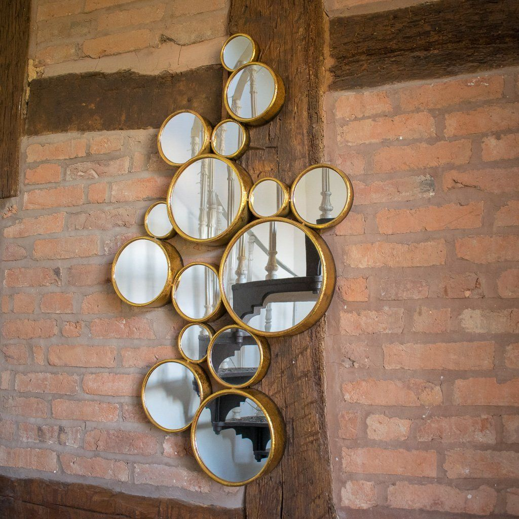 Fifteen Circles Mirror In Gold Finish Homelia Com Homelia Mirror Decor Gold Circle Mirror Circle Mirror