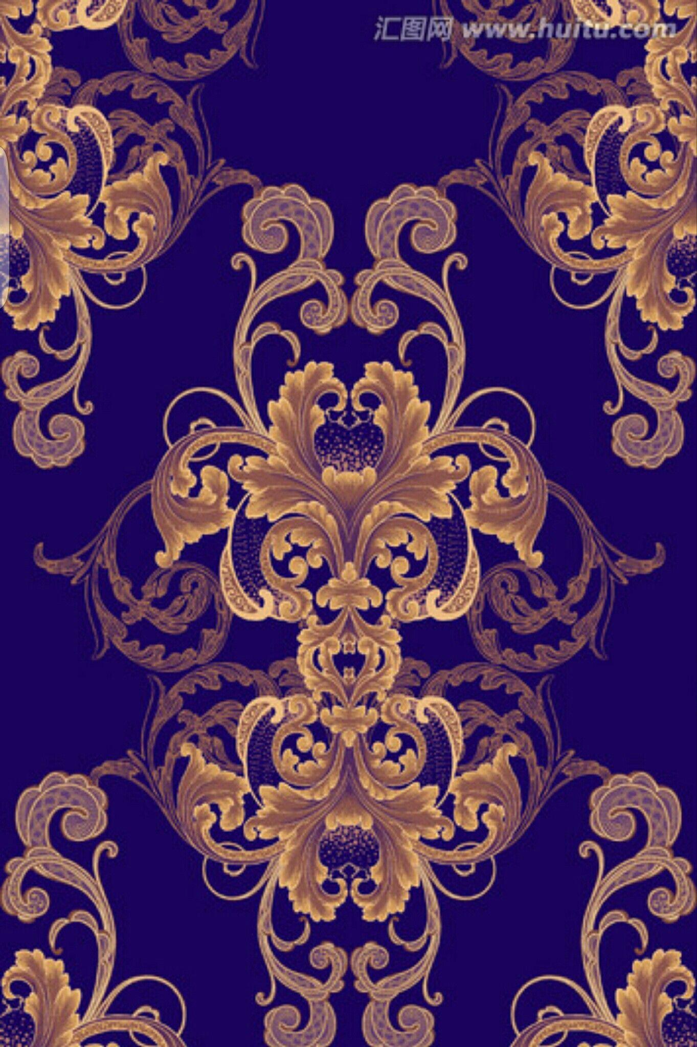 Art Deco Wallpaper, Damask Wallpaper, Pattern Wallpaper, Baroque Design, Baroque Pattern,