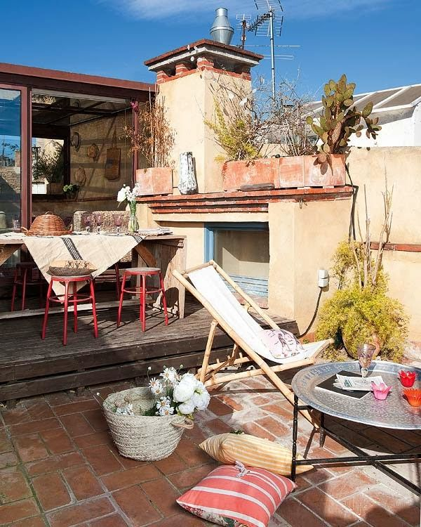 Home and Garden: Un appartement terrasse à Barcelone