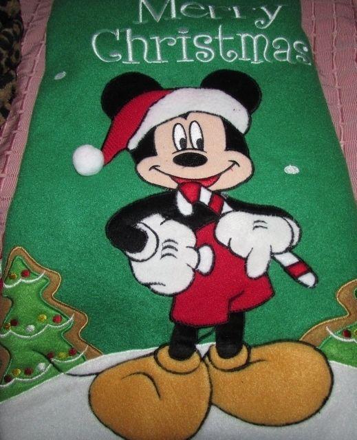 Disney Mickey Mouse With Candy Cane Merry Christmas Tree Skirt Santa Mickey  NEW #Disney #