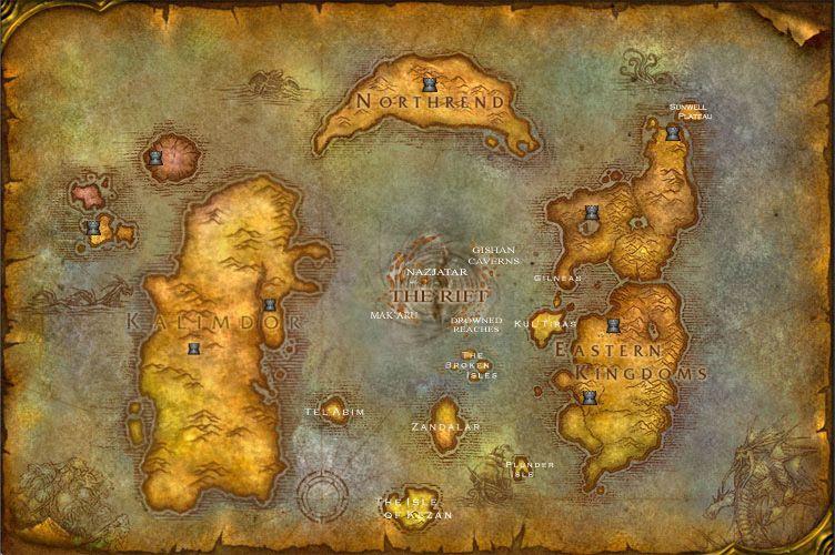 Azeroth New World Map Jpg 752 500 Fond D Ecran Ordinateur World Of Warcraft Wow Art
