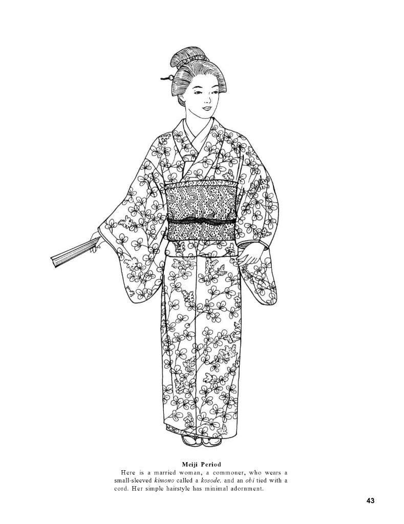 Japanese Fashions By Ming Ju Sun Dover Mensen Tekenen Geisha S Kleurplaten