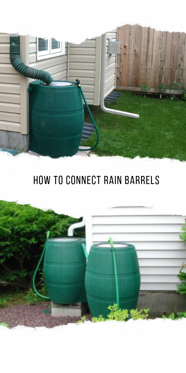How To Connect Rain Barrels Simple And Easy Best Home Gear Rain Barrel Rain Barrel System Water Barrel
