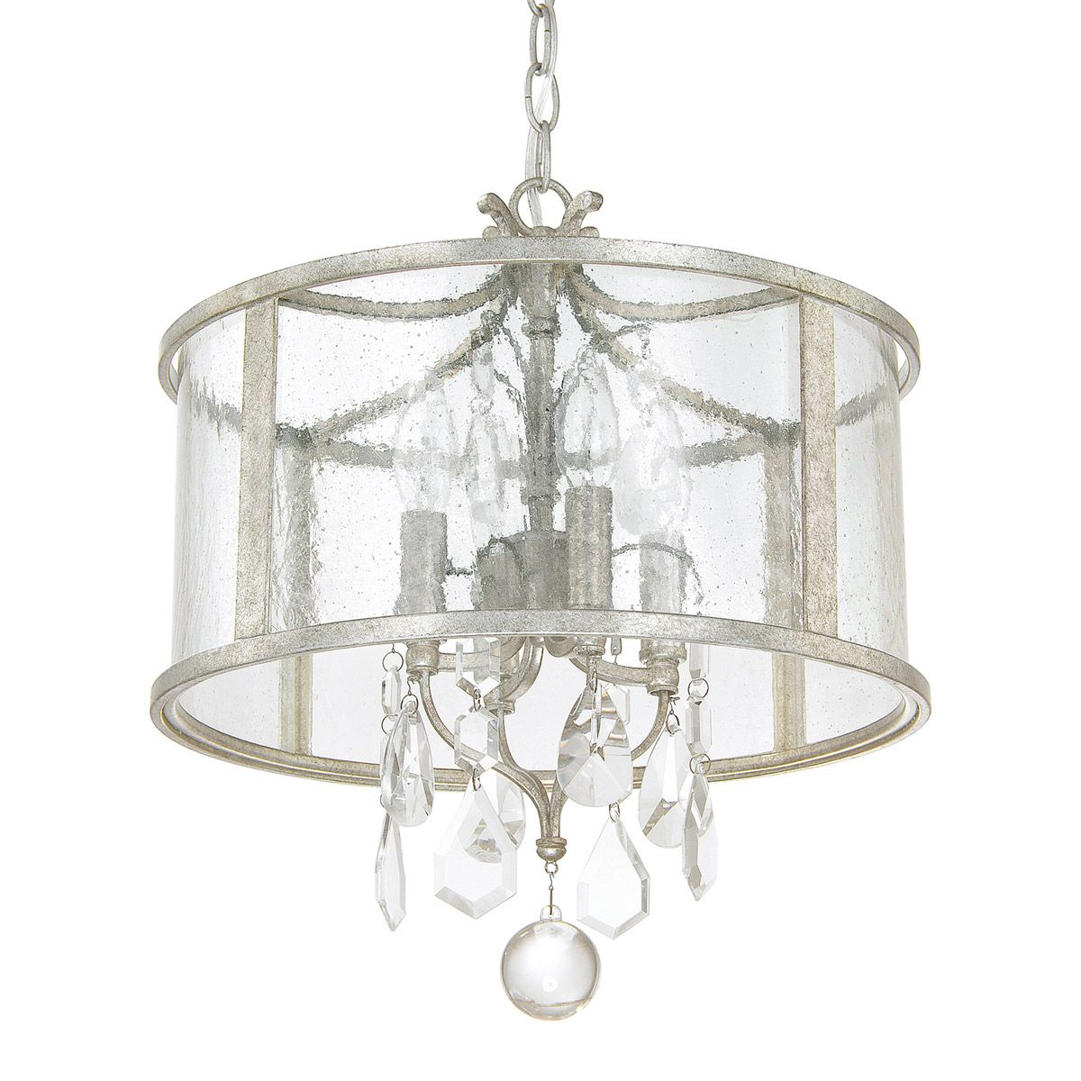Capital lighting 9484as cr blakely 4 light 15 inch antique silver capital lighting blakely 4 light pendant in antique silver with antique glass with clear crystals 9484as cr aloadofball Gallery