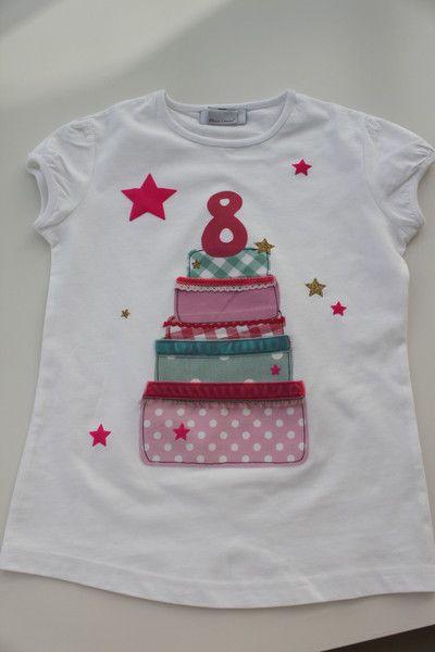 Geburtstagsshirt Kindershirt Madchen Geburtstagstorte
